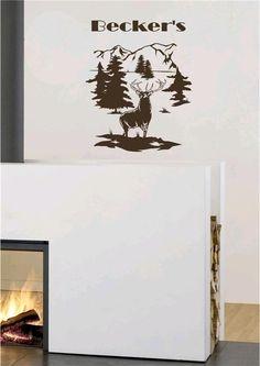 White Tail Deer Vinyl Wall Art Sticker Decal Rustic Cabin Decor. $22.95, via Etsy.