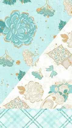 Wallpaper For Your Phone, Iphone Background Wallpaper, Computer Wallpaper, Flower Wallpaper, Cute Christmas Backgrounds, Pretty Backgrounds, Flower Backgrounds, Aqua Color, Scrapbook Paper