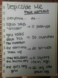 Despicable me workout