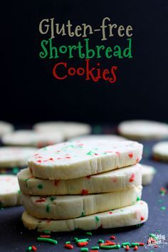 Gluten-Free Shortbread Cookies #christmas #cookies #glutenfree