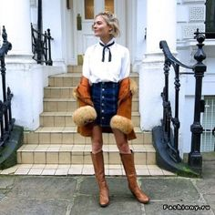 Юбка с пуговицами (модный тренд 1970-х)