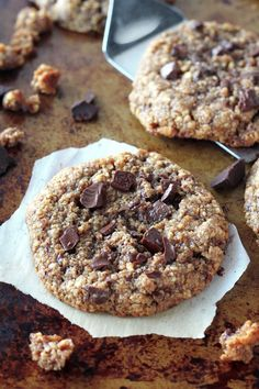 Flourless Almond Butter Chocolate Chunk Cookies