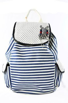 Unique Red/blue Stripes Backpack School Book Bag for Girls - Back to School by AMC, http://www.amazon.com/dp/B008YAUJYU/ref=cm_sw_r_pi_dp_2dV8qb0K6WDT8
