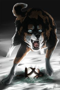 Vengeance: Male, cruel,stern,lean,agile,fast,smart,muscular,sneaky,and devious,but can also be loving to those he trusts. He is Bark's brother. He doesn't know he is though. no mate or pups. he is a follower of cyclone. Power:unknown