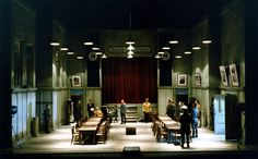 Roni Toren Stage Design - רוני תורן The Merchant of Venice /Shakespeare Staatstheatre Weimar - Germany ,1996 Director: Hanna Snir.