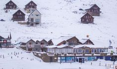 The lodges under a thick blanket of snow. #LoveLesotho www.afriski.net