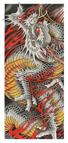 Japanese Dragon Tattoos, Japanese Tattoo Art, Japanese Tattoo Designs, Japanese Sleeve Tattoos, Dragon Tattoo Chest, Dragon Tattoo Drawing, Traditional Japanese Tattoo Flash, Traditional Japanese Dragon, Japan Tattoo Design