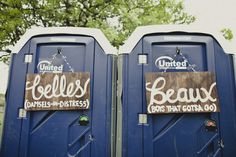 belles and beaux porta potty wedding signs, rustic wedding signs, 25 of the best wedding signs, creative wedding signage IF INEED PORTA POTTYS Wedding Bathroom Signs, Rustic Wedding Signs, Marquee Wedding, Wedding Signage, Wedding Pics, Farm Wedding, Dream Wedding, Wedding Ideas, Wedding Reception
