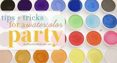 watercolor art party: tips and tricks {the handmade home} Singing Happy Birthday, Art Birthday, Birthday Party Themes, Birthday Ideas, Rainbow Painting, Art Party, Party Entertainment, Party Planning, Party Time