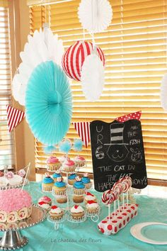"""""""Isabelle Thornton"""" Le Chateau des Fleurs: Cat in a hat birthday party, 6 years old!"""