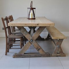Reclaimed Timber Country Dining Table notonthehightstreet.com £920