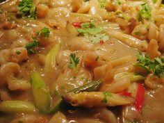 Spargel und Garnelen aus dem Wok Thai Curry, Risotto, Wok, Ethnic Recipes, Food Portions, Woks