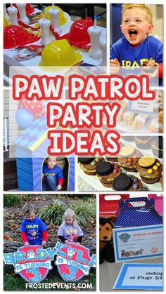 Paw Patrol Party Ideas- Paw Patrol Birthday Inspiration Decorations, Cupcakes, Favors, Activities via frostedevents - Kids Party Ideas