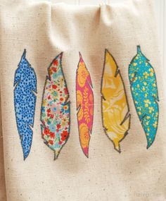 Cute feather design tea towel, takes about 1-2hrs from scratch, just made my own, so easy!!