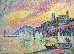 Paul Signac the harbor of cannes