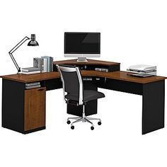 shop staples for bestar hampton corner l shaped home office computer desk tuscany brown black enjoy everyday low prices and get everything you need bathroomoutstanding black staples office furniture lshaped