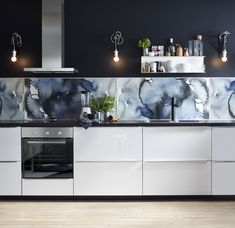 IKEA / Kitchen Paint on wall behind cabs