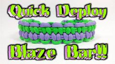Paracord How To Make A Quick Deploy Blaze Bar Bracelet.. This Video will show you how to make the Quick Deploy Blaze Bar Bracelet using buckles. To deploy th...