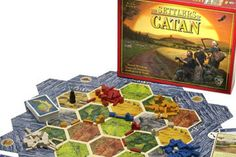 Settlers of Catan.  I first saw this game on Wil Wheaton's Table Top. Now I really want it. It looks like a blast.