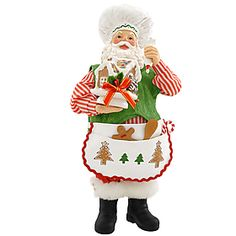 Fabriché™ Gingerbread Making Santa ~ I want to add this to my collection this year!