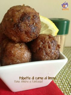 Polpette di carne al limone Italian Meat Dishes, Italian Meats, My Recipes, Italian Recipes, Favorite Recipes, Easy Meals For Kids, Kids Meals, Pizza E Pasta, Cooking With Kids