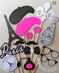 by The Prop Market Paris Photo Booth Props. by The Prop Market Paris Photo Booth Props. Paris Themed Birthday Party, 10th Birthday, Birthday Party Themes, Birthday Decorations, Paris Party Decorations, Wedding Decorations, Spa Birthday, Funny Birthday, Birthday Ideas