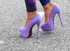 lavender shoes <3