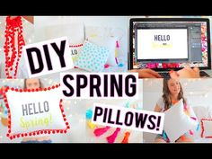 DIY Spring Pillows to Decorate Your Room! | Breezylynn08 - YouTube