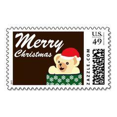 Teddy Christmas Postage Stamps