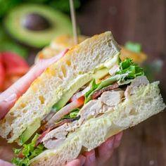 Recipes - NatashasKitchen.com Blt Recipes, Copycat Recipes, Dinner Recipes, Delicious Recipes, Chicken Avocado Sandwich, Bacon Avocado, Chili, Picnic Sandwiches, Cooking