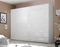 Armoire design blanche MILENA 3 Armoire Design, Divider, Bedroom, Furniture, Home Decor, Gray, White People, Decoration Home, Room Decor