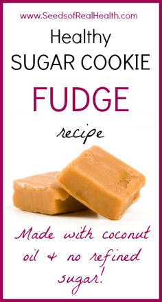 Healthy Sugar Cookie Fudge Recipe - SO GOOD! (healthy, paleo, gluten free) ** made this and have it in my freezer. Healthy Sugar Cookies, Sugar Free Desserts, Sugar Free Recipes, Paleo Dessert, Low Carb Desserts, Healthy Desserts, Delicious Desserts, Dessert Recipes, Yummy Food