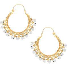 Ottoman Hands - Pearl Ornate Earrings (555 MAD) ❤ liked on Polyvore featuring jewelry, earrings, earrings jewellery, pearl jewellery, white pearl earrings, hoop earrings and pearl earrings