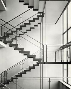 "Aage Strüwing ""Arne Jacobsen,Rødovre Town Hall"" 1955 (gelatin silver print, 23,7x17cm) EPFL Archives de la construction moderne, Lausanne"