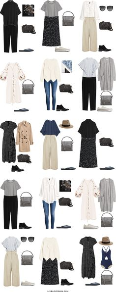 What to Wear for one month in Europe Packing Light List Outfit Options 1-15 #packinglist #packinglight #travellight #travel #livelovesara