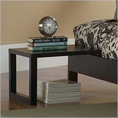 Fashion Bed Group Murray Side Table in Black Finish - Perfect functionality and style, the Murray Side Table is the final touch to your modern domicile.