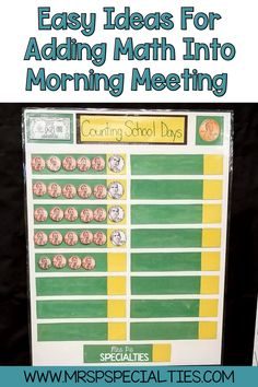Adding math practice to lessons across the school day will lead to more practice & better generalization of skills. Click to read these tips for adding money and math skills into your morning meeting times. These tips are great for mixed leveled grouping, visual learners and hands on learners. This blog post is perfect for autism classes, kindergarten, self-contained, life skills and multiply disabled programs. Click to get started now! Math Skills, Social Skills, Life Skills, The First 100 Days, 100 Days Of School, Learning Time, Hands On Learning, Calendar Skills, Morning Meeting Activities