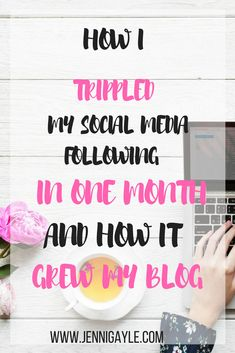 How i grew my social media following. How i increased my blog traffic with social media. Social media strategy.