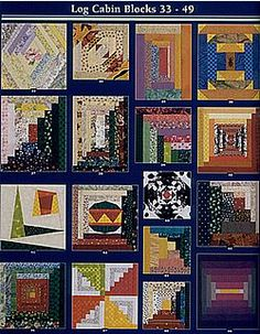 Log Cabin Blocks 33-49