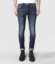 Mens Goma Cigarette Jeans (Indigo)   ALLSAINTS.com