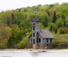 Grand Island East Channel Lighthouse in Michigan's Pictured Rocks National Lakeshore  @Dominique King
