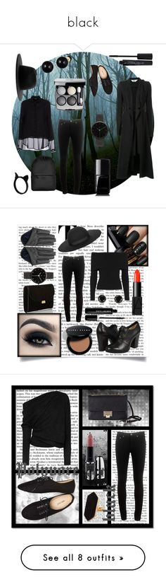 """black"" by elis-grey ❤ liked on Polyvore featuring Kitx, Études, rag & bone, Siste's, Rains, Chanel, Wet Seal, I Love Ugly, Lord & Taylor and Smashbox"