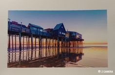 8.5 x 11 fine art print. This is currently one of my most requested images. This image is printed on Canson photo rag paper. Canson paper has a high archival rating; which means you print will look great for years to come. There is a fine texture to this paper that brings out the texture of the wood in the pier and gives the image a rich vibrant look. I will be honest and say that I actually prefer this image printed on paper rather than metal. There is an inch borders all around, so just…