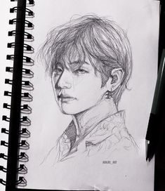 Discover recipes, home ideas, style inspiration and other ideas to try. Kpop Drawings, Pencil Art Drawings, Art Drawings Sketches, Kpop Fanart, Taehyung Fanart, Dibujos Cute, Bts Pictures, Art Sketchbook, Traditional Art