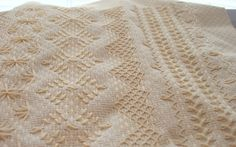 Finishing a Monks Cloth Afghan | Places you can find patterns and/or kits: Nordic Needle , Thistle ...