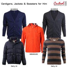 Cardigans, Jackets & Sweaters for Him  ลมหนาวมาแล้ว มาสวมคาร์ดิแกน สเวตเตอร์เพิ่มความอุ่นกันค่ะ คอลเลคชั่นใหม่จากแบรนด์ฮอตจาก ALUMNUS, BGLab, DeFry 01 และ Wrangler