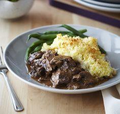 Tender beef potato top crunch
