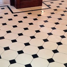 Photos featuring our design, consultation and sheeted tile supply. Victorian, Edwardian, Georgian and contemporary ceramic tile designs. Victorian Hall, Victorian Tiles, Victorian Bathroom, Black And White Hallway, Black And White Tiles, Black White, Hall Tiles, Tiled Hallway, Bathroom Floor Tiles