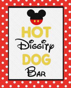 Terrible image regarding hot diggity dog bar free printable