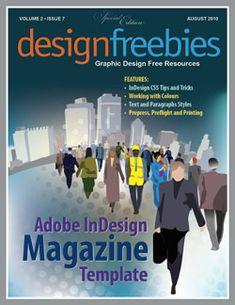 Magazine InDesign template. #indesign #indesigntemplates